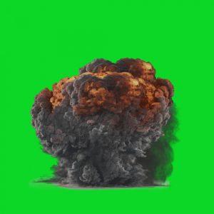 فوتیج کروماکی انفجار (پرده سبز)