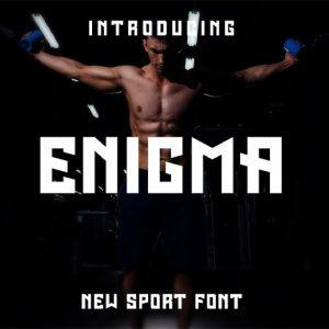 فونت انگلیسی اسپورت Enigma