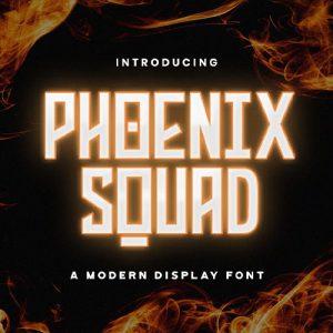 فونت انگلیسی گیمینگ Phoenix Squad
